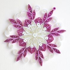 8 point white and pink quilled ornate snowflake | Bex | Flickr