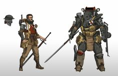 WWI Order Knight by StTheo on DeviantArt Armor Concept, Concept Art, Character Concept, Character Art, Cyberpunk, Character Design Cartoon, Armadura Medieval, Sci Fi Armor, Sci Fi Characters