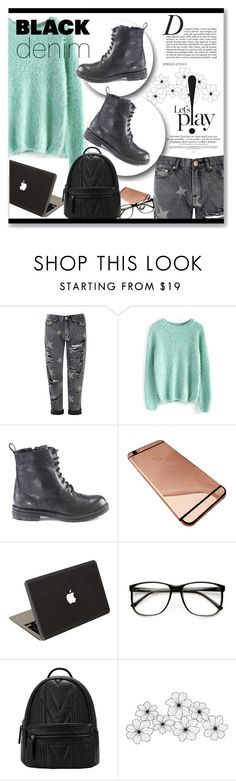 """""""Black Denim and Combat boots! OOTD"""" by artemisia-art ❤ liked on Polyvore featuring Glamorous, Chicwish, Hera, Valentine Goods, Anja, women's clothing, women, female, woman and misses"""