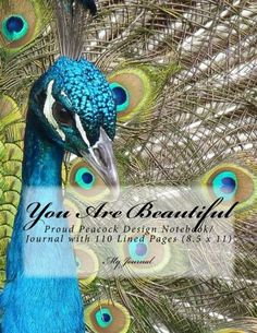 You Are Beautiful: Proud Peacock Design Notebook/Journal with 110 Lined Pages x My Journal, Journal Notebook, Journals, Indie Books, Peacock Design, Lined Page, You Are Beautiful, Journal Inspiration, Amazon
