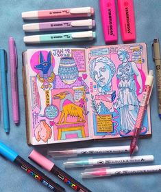 Highlights of what I saw on my trip to Hamburg and Berlin (tho these are all from Berlin due to traveling delays)🤩🙌🏺Can I also just say how… Posca Marker, Marker Art, Art Sketches, Art Drawings, Posca Art, Arte Sketchbook, Art Diary, Sketchbook Inspiration, Aesthetic Art