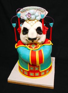 Modified Peking Opera Panda based on Karen Portaleo's original Peking Opera Panda.  This was my project in the class she taught at Mother Of Cakes which I had the honor and privilege to attend.