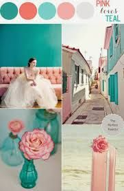 Looking for your wedding color palette? The Perfect Palette wants to help! The Perfect Palette is dedicated to helping you see the many ways you can use color to bring your wedding to life. Teal And Pink, Pink Love, Pink Color, Blush Pink, Teal Colors, Pastel Colours, Coral Turquoise, Pink White, Navy Blue