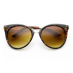 Oversize Womens Detailed Indie Cat Eye Sunglasses - zeroUV