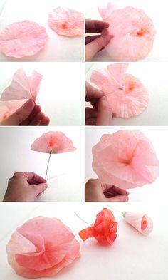 Lemon Jitters: DIY Flowers: Cupcake Wrappers & Coffee Filters