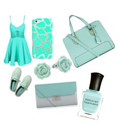 """Mint green (dressy)"" by luv2dance17 ❤ liked on Polyvore featuring Casetify, Keds, LC Lauren Conrad, Structured Green and Deborah Lippmann"