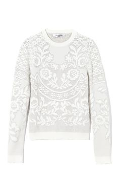 Shop Long Sleeve Crew Pullover by Valentino Now Available on Moda Operandi