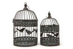 A Loja do Gato Preto | 2 Gaiolas/Floreiras Pássaros @ 2 Jaulas/Floreros Pájaros #alojadogatopreto