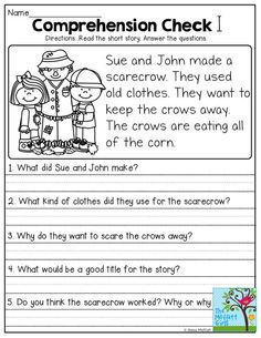 Short Stories with comprehension questions! First Grade Reading Comprehension, Reading Comprehension Worksheets, 2nd Grade Reading, Reading Fluency, Comprehension Questions, Reading Passages, Kindergarten Reading, Reading Strategies, Reading Skills