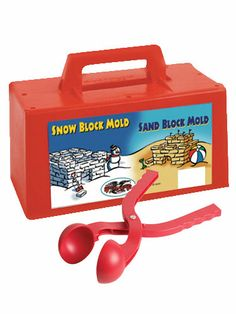 Our exclusive Snow Tools Bundle includes both the Snowball Maker and Snow and Sand Block Maker, a duo that will allow youngsters to build a fortress and fill it with perfect snowballs. Ages 4 & up.