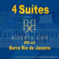 Apartamento 4 quartos alto luxo Barra da Tijuca Rio de Janeiro RJ