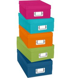 Whitmor, Inc. - Colorful Storage Boxes - Storage Bins and Boxes Decorative Storage Bins, Lego Storage, Craft Storage, Storage Boxes, Storage Ideas, Plastic Organizer Box, Plastic Box Storage, Organiser Box, Home Storage Solutions