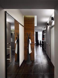 Új építésű 51m2-es lakás berendezése - modern, univerzális, elegáns stílus, üvegfal, minőségi anyagok