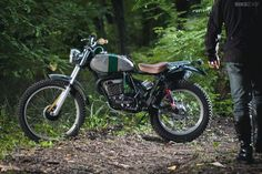 Customized SWM 320TL 2-stroke motorcycle by Lorenzo Buratti