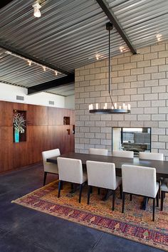 Gallery of Flyway View House / Jon Anderson Architecture – 12 Galerie – Flyway View House / Jon Anderson Architektur – 12 Cout Construction Maison, Cinder Block House, Cinder Block Walls, Cinder Blocks, Steel Roof Panels, Home Interior, Interior Design, Industrial Living, Industrial Stairs