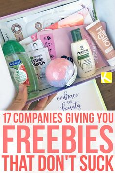 """17 Companies Giving You Freebies That Don't Suck - It's my favorite """"F"""" word — freebie! Here are some brands and companies that give freebies that are worth definitely worth your time! stuff 17 Companies Giving You Freebies That Don't Suck Free Baby Samples, Free Samples By Mail, Free Makeup Samples, Makeup Sample Box, Stuff For Free, Free Stuff By Mail, Free Baby Stuff, Coupons For Free Stuff, Freebies By Mail"""
