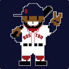 Eight Bit Big Papi #34 David Ortiz Boston Red Sox Baseball T-Shirt, $20 via Chowdaheadz.Com
