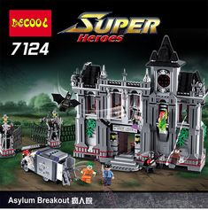 #transformer superheroes batman: arkham asylum breakout building toys blocks 7124