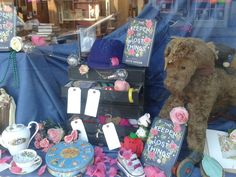 Lost things found in Bedford and displayed in the book launch window