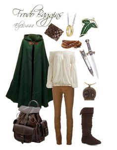 """Lord of the Rings- Frodo Baggins"" by elf10444 ❤ liked on Polyvore featuring 7 For All Mankind, Aéropostale, Arden B., Humble Chic, Motif 56 and Grafea"
