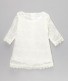 Take a look at this White Lace Dress - Toddler & Girls by Blossom Couture on #zulily today!