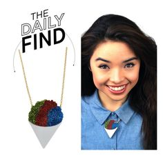 """The Daily Find: Vinca Snow Cone Necklace"" by polyvore-editorial ❤ liked on Polyvore featuring DailyFind"