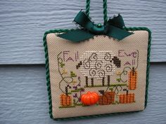 Shepherds Bush Fall Ewe All Sheep cross stitch ornament