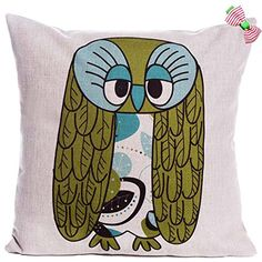 Caryko Home Decor Cotton Linen Square Pillow Case Cushion Cover Cute Owls (Owl-dull) Caryko http://www.amazon.com/dp/B00XYSTTHU/ref=cm_sw_r_pi_dp_RGwxvb00301E8