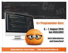 Die Bewerbungsphase läuft bis zum 07.06.2015: Fachinformatiker für Anwendungsentwicklung. Vielleicht etwas für Dich? Mehr Infos unter http://www.4sellers.de/Unternehmen/Karriere/Praktika/C-Programmier-Kurs