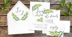 Olive Branch Wedding Invitations — Hawthorne and Ivory Wedding Stationery Sets, Wedding Invitations, Olive Branch Wedding, Address Stamp, Envelope Liners, Rsvp, Ivory, Cards, Wedding Save The Date Sets