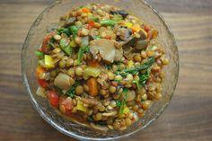 lentils & veggies - cheap and tasty