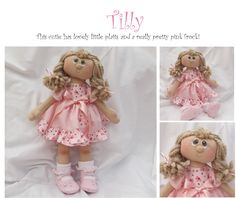 Tilly handmade doll by  The Ruby Range for sale, UK