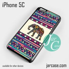 Aztec Elephant (3) Phone case for iPhone 5C and other iPhone devices