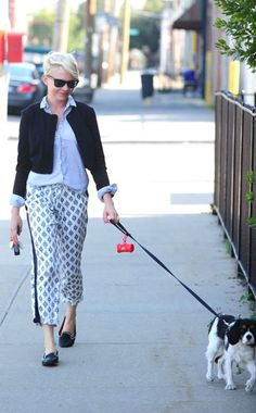 Michelle Williams - lady Ike chic this whole look is spot on