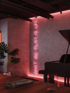 WINE&COCKTAIL BAR on Behance Bar Interior Design, Pub Design, Home Room Design, Cafe Interior, Living Room Designs, House Design, Flat Design, Restaurant Design, Cocktail Bar Interior