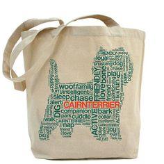 Cairn Terrier Jumbo Canvas Tote Bag Dog Breed Tote door DogCityandCo