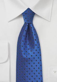 Monochromatic Polka Dot Tie in Azure Blue