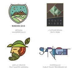 The top best logo designs from as well as a look at the 2015 logo & branding design trends and an inspirational logo design gallery showcase. Logo Design Trends, Best Logo Design, Identity Design, Visual Identity, Graphic Design, Corporate Identity, Popular Logos, Logo Samples, Hand Logo