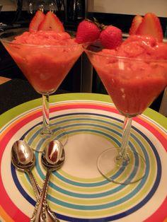 Pat's Pink Apron: Strawberry Granita