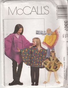 Hooded PONCHO Sewing Pattern with Elastic Waist by HoneymoonBus