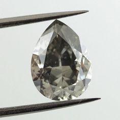 A beautiful colored diamond. Pear Shaped Fancy Dark Gray Diamond, 2.01 carat