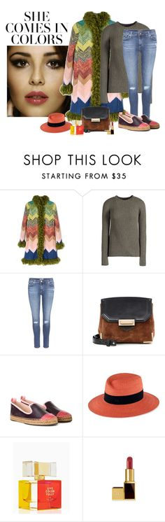 """""""She Comes In Colors"""" by katiethomas-2 ❤ liked on Polyvore featuring L'Oréal Paris, Missoni, The Row, AG Adriano Goldschmied, Alexander Wang, Fendi, Maison Michel and Kate Spade"""