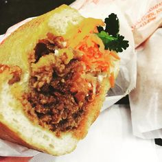 """You can't go wrong with the bulgogi bahn mi with a fried egg on it aka the """"bomb me"""" from JoJu in (at JoJu) Queens Food, Queens Nyc, Bulgogi, Cheesesteak, Egg, Ethnic Recipes, Travel, Eggs, Viajes"""