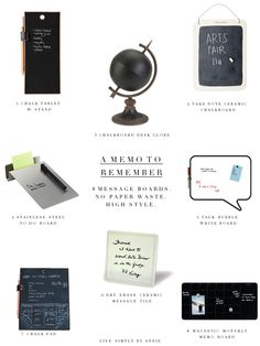 8 message boards that won't waste paper but will keep your reminders in high style