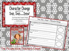 Classroom Freebies: Snip, Snip...Snow! Character Change