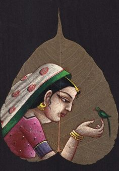 Buy exclusive handmade indian leaf paintings on www.peepleaf.com Leaf Paintings, Indian Art Paintings, Dry Leaf Art, Hanuman Ji Wallpapers, Bodhi Leaf, Hand Painted Dress, Tanjore Painting, Indian Folk Art, Tree Sculpture