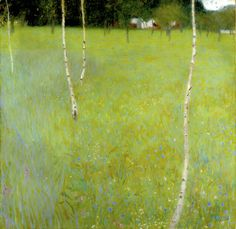 Farmhouse with Birch Trees - Young Birch Trees, 1900 by Gustav Klimt - art print from King
