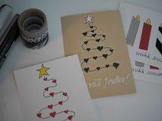 Mansikkatilan mailla: Joulukortit vuosimallia -17 ja menovinkki lahtelaisille Christmas Cards, Playing Cards, Xmas, Christmas Is Coming, Children, Drawing Drawing, Diy Christmas Cards, Christmas E Cards, Xmas Cards