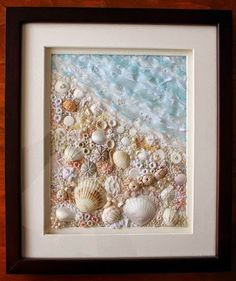 50 Magical DIY Ideas with Sea Shells Mach es selbst Ideen und Projekte: 50 magische DIY-Ideen mit Muscheln Seashell Art, Seashell Crafts, Beach Crafts, Diy And Crafts, Arts And Crafts, Crafts With Seashells, Decorating With Seashells, Deco Marine, Seashell Projects