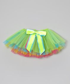 Take a look at the Green Rainbow Bow Tutu - Infant & Toddler on #zulily today!